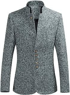 Mens Slim Fit Blazer Single Row Buckle Suit Sport Coat Lightweight Jacket