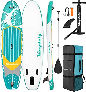 Lovinouse 10' Inflatable Stand Up Paddle Board, Durable SUP with Non-Slip Deck, Carry Backpack, Lightweight Paddle and Pum...
