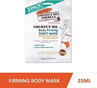 Palmer's Coconut Oil Formula Body Firming Sheet Mask | 0.84 Ounce (Pack of 2)