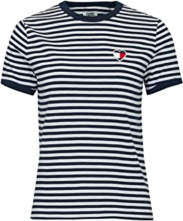Tommy Hilfiger Women's TJW Stripe Heart Knit Tops