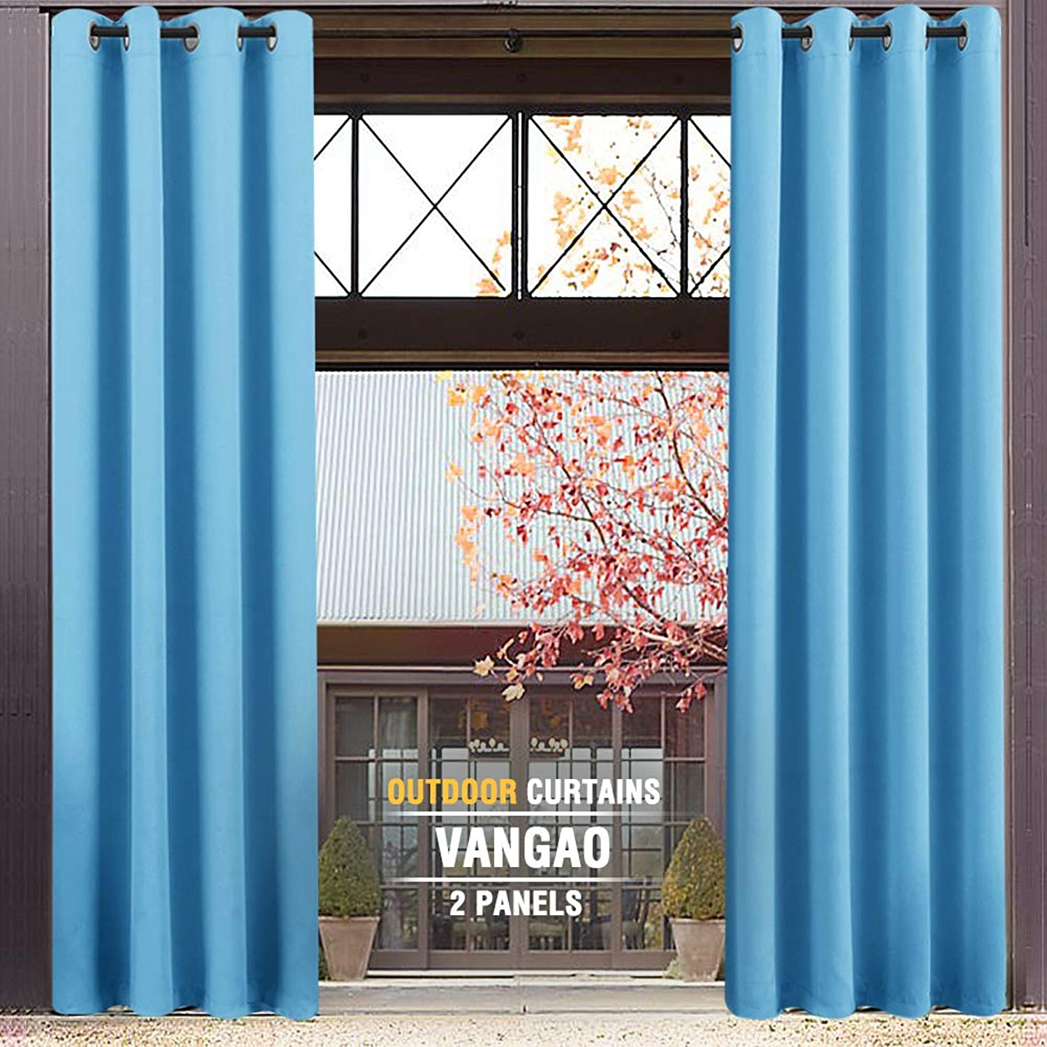 Kids Room Darkening Curtains 63 inches Long Triple Weave Nursery Curtain Panels for Boy's Room Thermal Insulated Living Room Blackout Drapes, Grommet Top, 1 Pair, Royal bluee