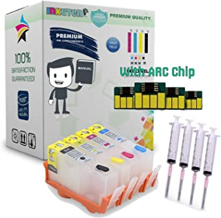 INKUTEN 4 Refillable (Empty) Cartridges for HP 934, HP 934XL, HP 935, HP 935XL Auto Reset Chips (ARC) for OfficeJet 6812, OfficeJet 6815, OfficeJet Pro 6230, OfficeJet Pro 6830, OfficeJet Pro 6835
