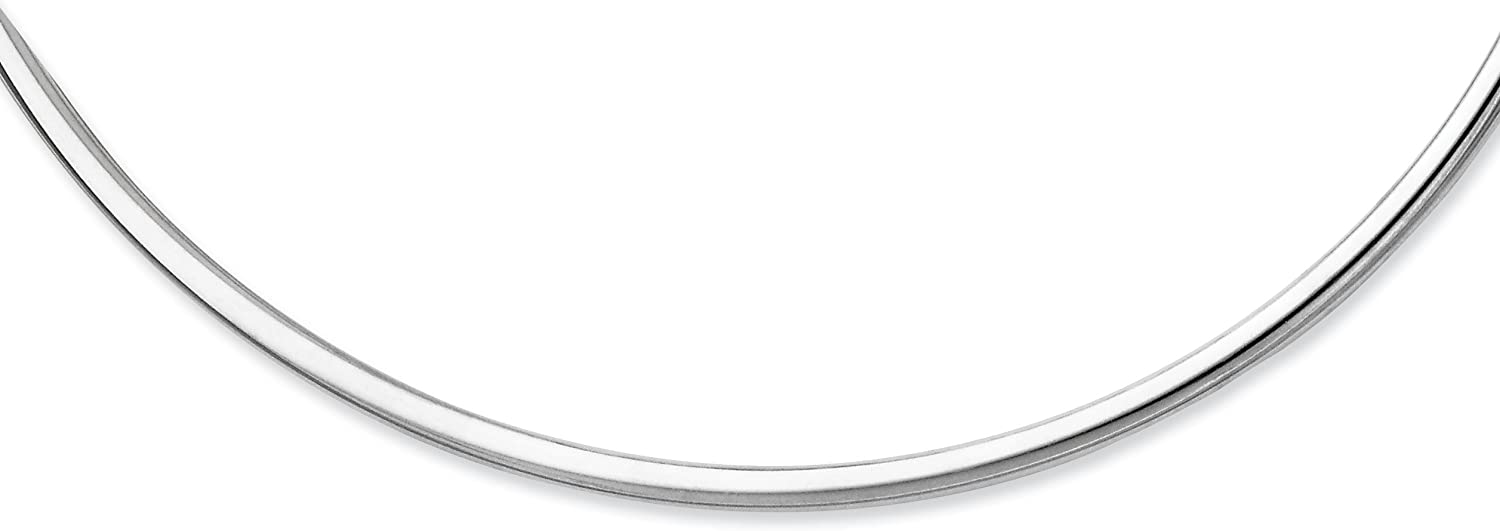 West Coast Jewelry Sterling Selling Silver Neck Inch Award Hollow 18 Polished