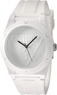 Guess Women's Iconic U0979L1 White Silicone Japanese Quartz Fashion Watch