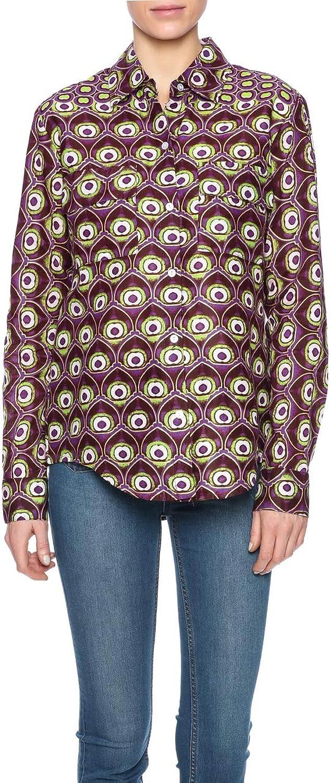 Hilary MacMillan Peacock Button Up Top