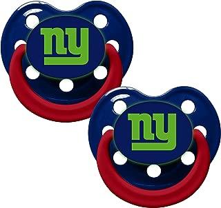 New York Giants Glow in Dark 2-Pack Baby Pacifier Set - NFL Infant Pacifiers