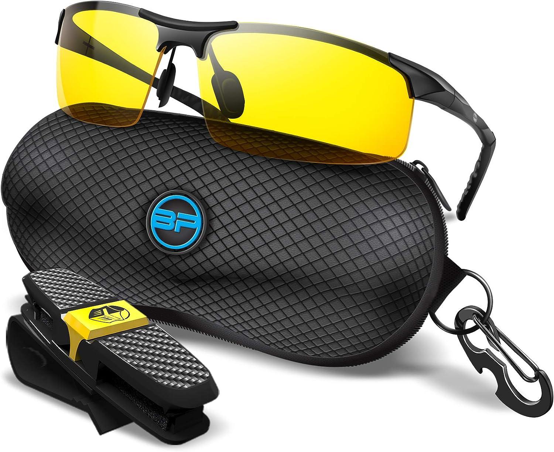 BLUPOND Yellow Glasses for Latest item Men Women Fog - S mart Anti Semi-Polarized