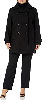 Women's Classic Double Breasted Coat Plus Size