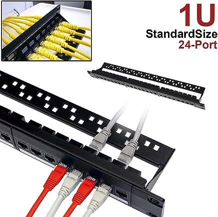7E TRADING 24 Port 1U Pannello Patch Cat5 Montabile in Rack PRO Rj45 110 Network Mini Patch Panel Stampaggio Integrato, Senza Ruggine, Resistente (Cate6 Rj45 Dritto) - Trova i prezzi più bassi