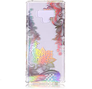 Galaxy Note 9 Case, Dooge Ultra Thin Crystal Colourful Laser TPU Case Light but Durable Clear Soft Flexible TPU Rubber Silicone Skin Protection for Samsung Galaxy Note 9