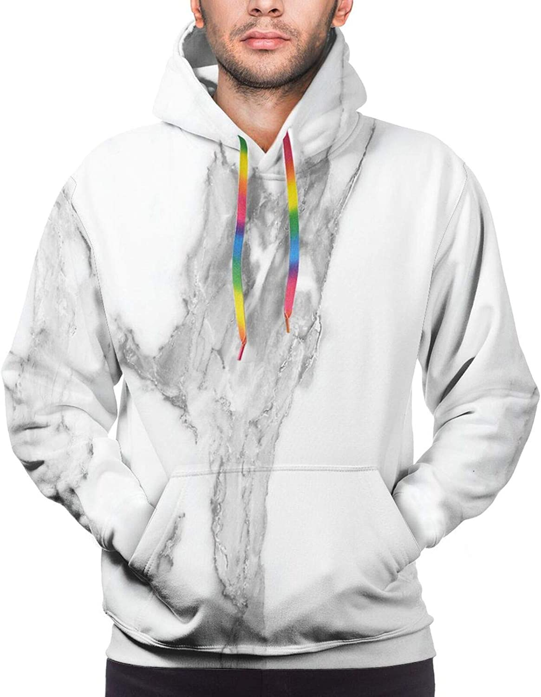 TENJONE Men's Hoodies Sweatshirts,Abstract Squares Arrangement Colorful Concept Assortment of Geometric Shapes