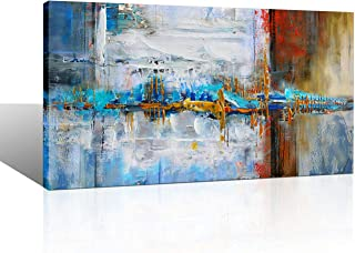 Yiijeah Large Abstract Canvas Wall Art Giclee Print Decor for Living Room Bedroom Abstract Picture White Gray Artwork Moder Home Office Decoration 24x48
