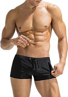 COOFANDY پیراهن شنا مردانه مختصر شنا لباس زیر با جیب زیپ