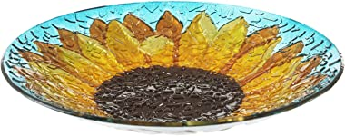 Goose Creek Birdbath with Crushed Glass Look 18""