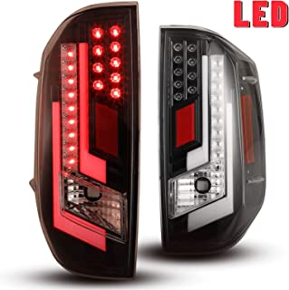 LED Tail lights Fit for 2014-2020 Toyota Tundra Tail Lamps with Glossy Black Housing/Clear Lens 2PCS AUTOWIKI