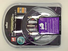 Rhino 50ft(15M) BNC Security Cable Video/power/audio 3 in 1
