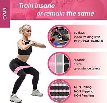3 different sizes FIVENRY Premium Fitness Booty Resistance Bands I Non-Slip Exercise Workout Bands I Enjoy Whole Body Workout Yoga or Pilates like a Professional
