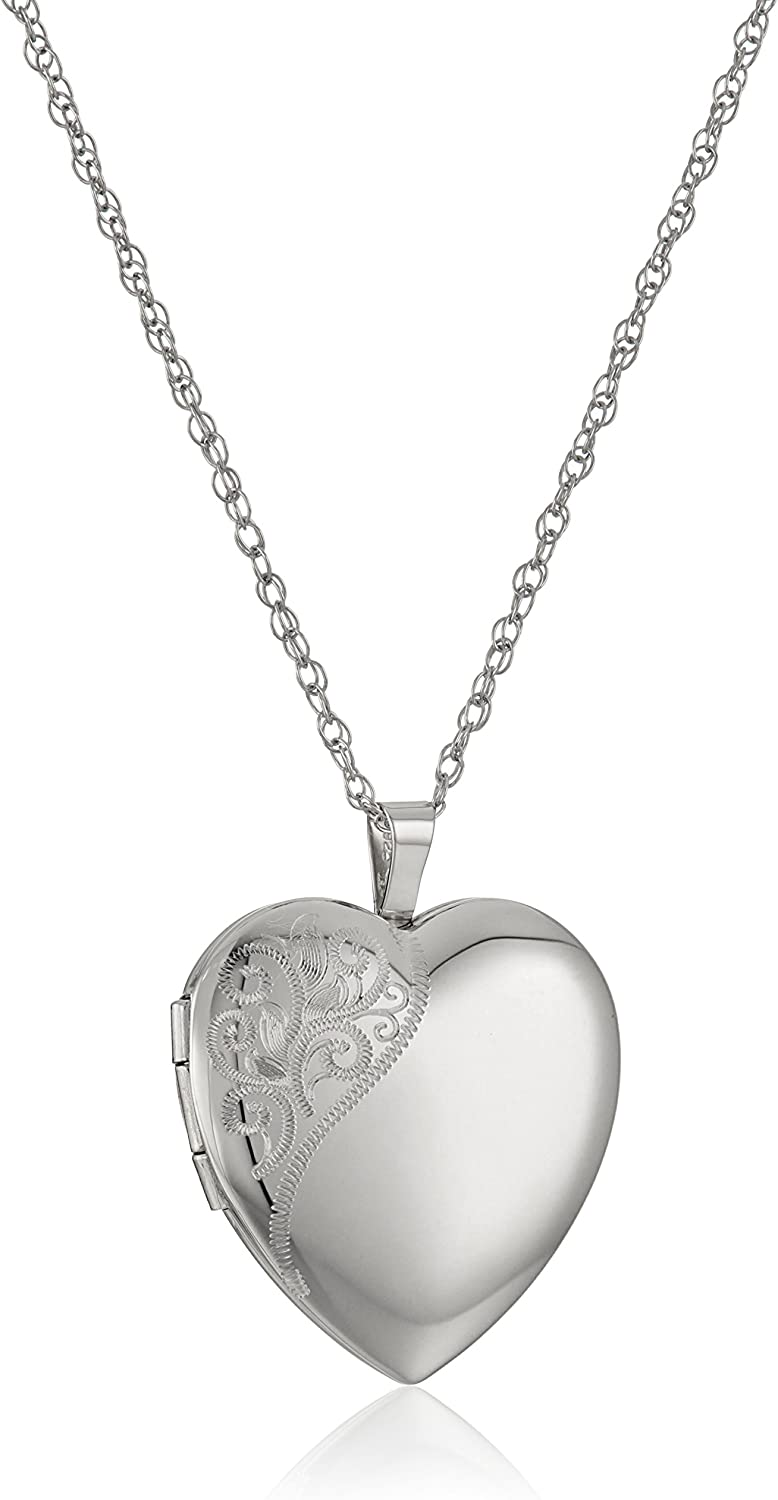 Sterling Excellence Silver Large Hand Engraved Pendant with 2021 model Floral Sa Heart