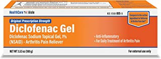 HealthCareAisle Diclofenac Gel - Diclofenac Sodium Topical Gel (NSAID), Arthritis Pain Reliever, 1%, 100 Grams
