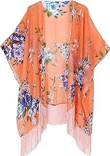 Landove Cardigan Estivo Donna Maniche 3//4 Kimono Floreale Girasole