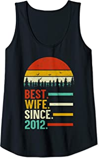 Womens Best Wife Since 2012, 7th Wedding Anniversary Gift For Her Tank Top