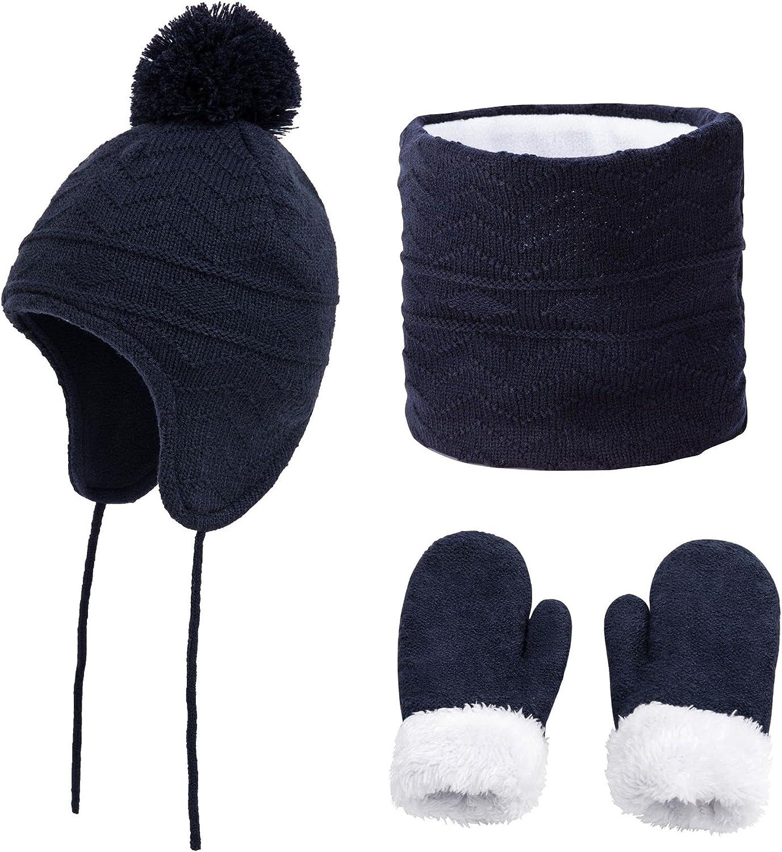RUICHENG New Velvet Warm Hat Suit Th Scarf Max 50% OFF Gloves 3 trust Children