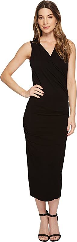 Michael Stars - Cotton Lycra® Sleeveless Cross Over Dress