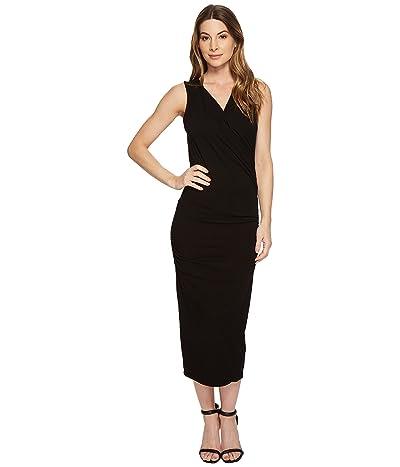 Michael Stars Cotton Lycra(r) Sleeveless Cross Over Dress (Black) Women