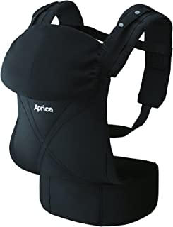 アップリカ(Aprica) だっこひも コラン ハグ AB ブラック BK (つかれにくい腰ベルトタイプ + 新生児シート同梱 + 5Wayタイプ) 39462 新SG対応モデル