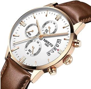 Nibosi Casual Watch For Men Analog Genuine Leather - NI2309