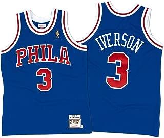 Mitchell & Ness 72263B296AIVER Men Philly 76ERS Allen Iverson Nostalgia Blue