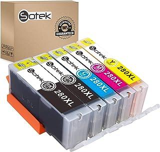 Sotek 280XL 281XL 280 281 XL Ink Cartridges, Work with PIXMA TR7520 TR8520 TS6120 TS6220 TS8120 TS8220 TS9120 TS9520 TS952...