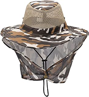 Luwint Gardening Hat with Mesh Neck Flap for Beekeeper Outdoors Fishing Camping Hiking Hunting