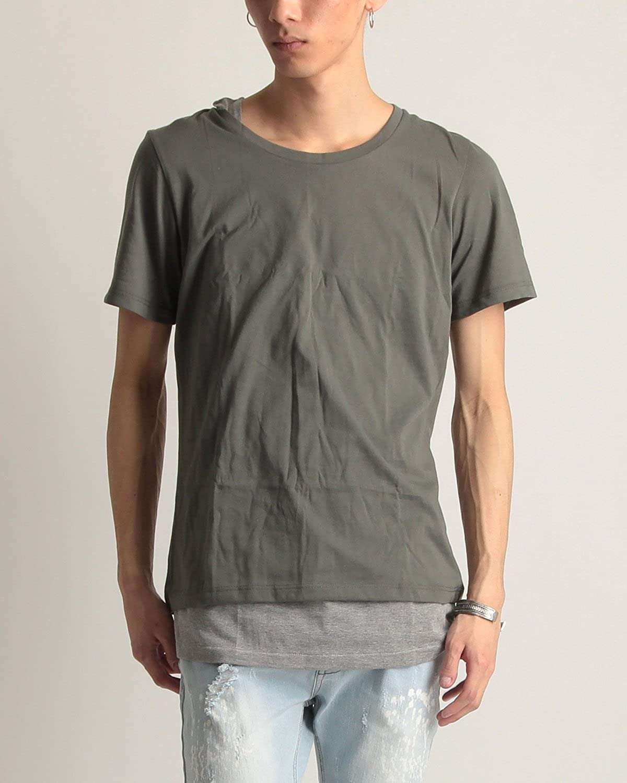 (バレッタ) Valletta シェラックオム クルーネック Tシャツ & タンクトップ 2枚セット ストリートモード メンズ 夏 サマー mens