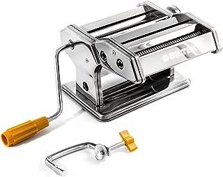 Pasta Maker Machine - Stainless Steel Hand Crank Cutter & Roller for Fresh Pasta