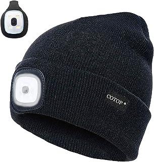 Unisex-LED-Mütze mit Akku 5 Stunden Hochleistungsleuchte O8D8 J4I9 T9K2