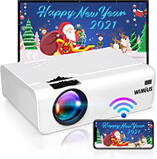 Proyector WiFi, WiMiUS 5800 Proyector WiFi Portátil Full HD Soporta 1080P Audio AC3 Mini Proyector 720P Nativo 80000 Horas Proyector WiFi Cine En Casa para Telefono/iPad/PC HDMI VGA AV TF USB