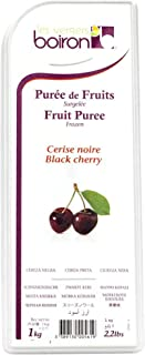 Boiron Black Cherry Fruit Puree - 2.2 lbs - Finest Fruit Puree for Cocktails, Smoothies, Healthy Drinks from France