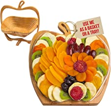 Dried Fruit Gift Basket – Tray Turns into Basket - Healthy Gourmet Snack Box – Holiday Food Tray - Great for Thanksgiving, Birthday, Sympathy, Christmas, or as a Corporate Tray – Bonnie & Pop