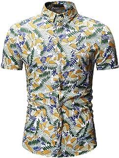 メンズ 半袖 トップス 夏 大きいサイズ ビーチシャツ カジュアルシャツ