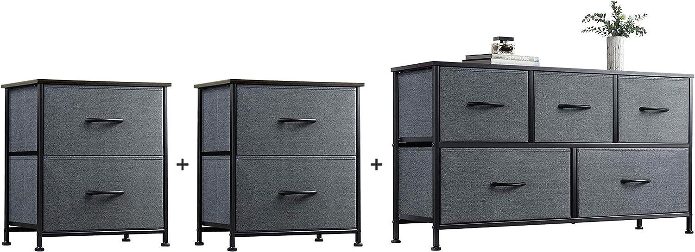 WLIVE 2 Drawer Dresser and Storage Set 5 Max 90% OFF Tower favorite