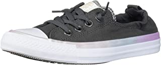 Converse Women's Chuck Taylor All Star Shoreline Slip-On Low Top Sneaker, Carbon Grey White, 9 M US