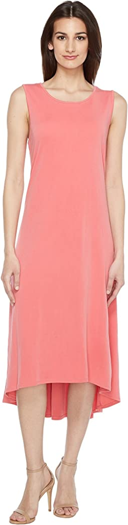 Sleeveless High-Low Hem Dress