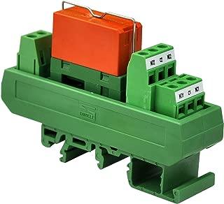 Electronics-Salon AC 230V Slim DIN Rail Mount 8Amp DPDT Power Relay Interface Module, RTE24730 230VAC.