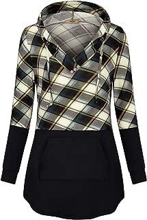 Miusey Womens Long Sleeve Pullover Hoodie Tunic Sweatshirts with Kangaroo Pocket