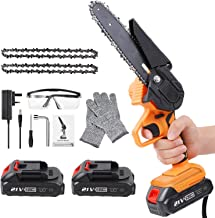 Sponsored Ad – Mini Chainsaw Cordless, 6-Inch Battery Powered Chainsaw with 2 Rechargeable Battery, One-Handed Portable El...