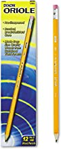 Dixon Oriole Woodcase Pre-Sharpened Pencil, HB #2, Yellow Barrel, 12/Pack
