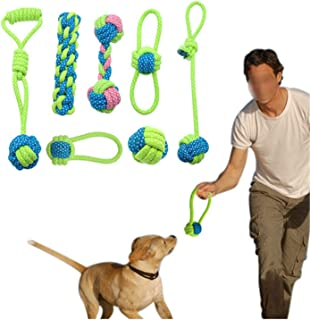 New Cotton Dog Rope Toy Knot Puppy Chew Teething Toys Teeth Cleaning Pet Playing Ball for Small Medium Large Dogs