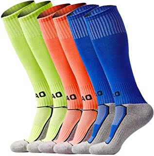 Little Boys/Girls Outfits Compression Long Sport Soccer Socks Pack (Kids/Youth Gifts)