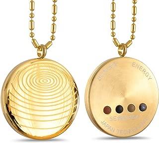 Anti EMF Radiation Protection Pendant, Scalar Energy Pendant Volcanic Lava Negative Ions Energy Pendant Necklace Orgone Pendant, Black Tourmaline, Electromagnetic Field Protection